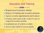 education and training25