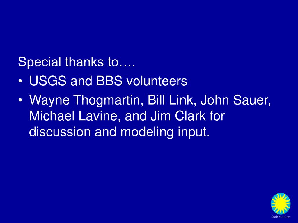 Special thanks to….