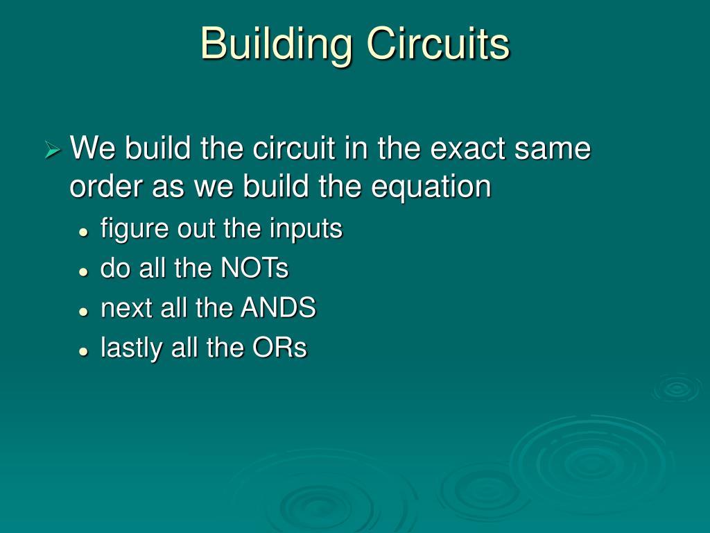 Building Circuits