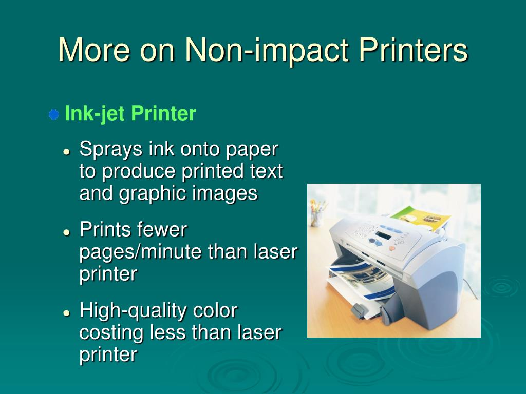 More on Non-impact Printers