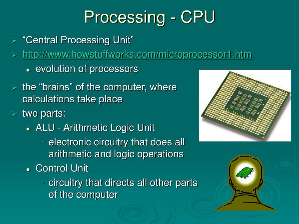 Processing - CPU