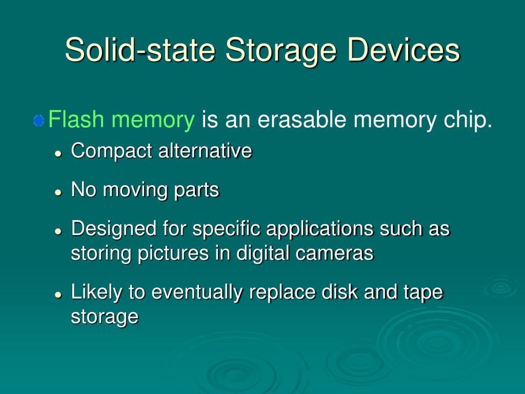 Solid-state Storage Devices