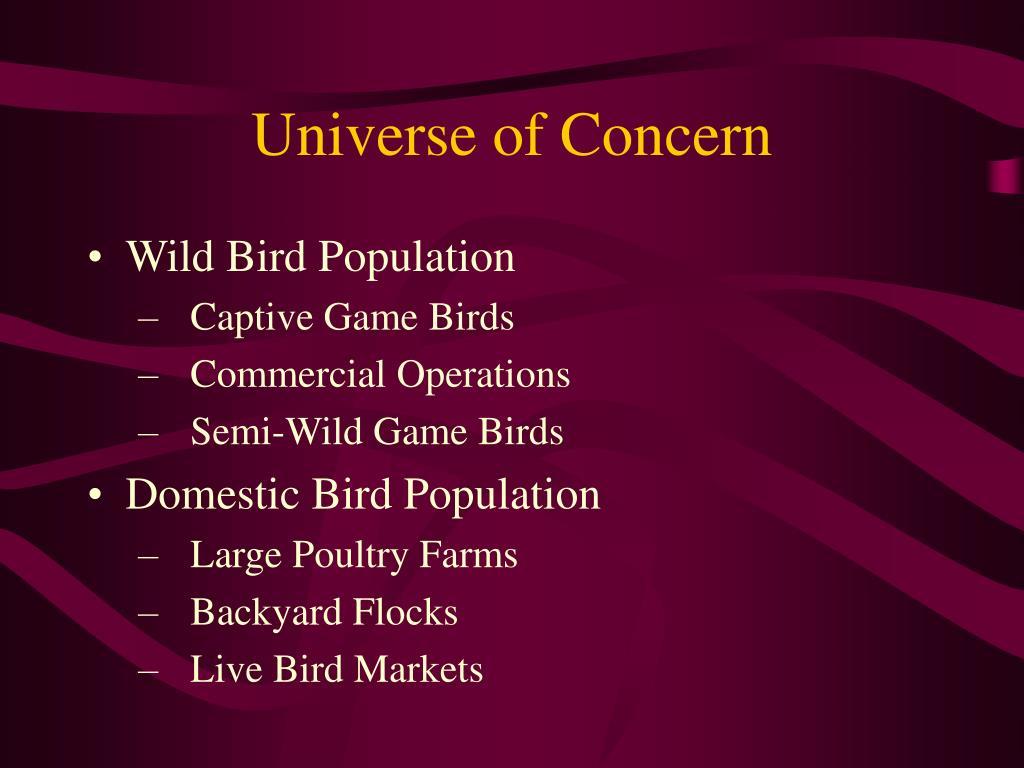 Universe of Concern