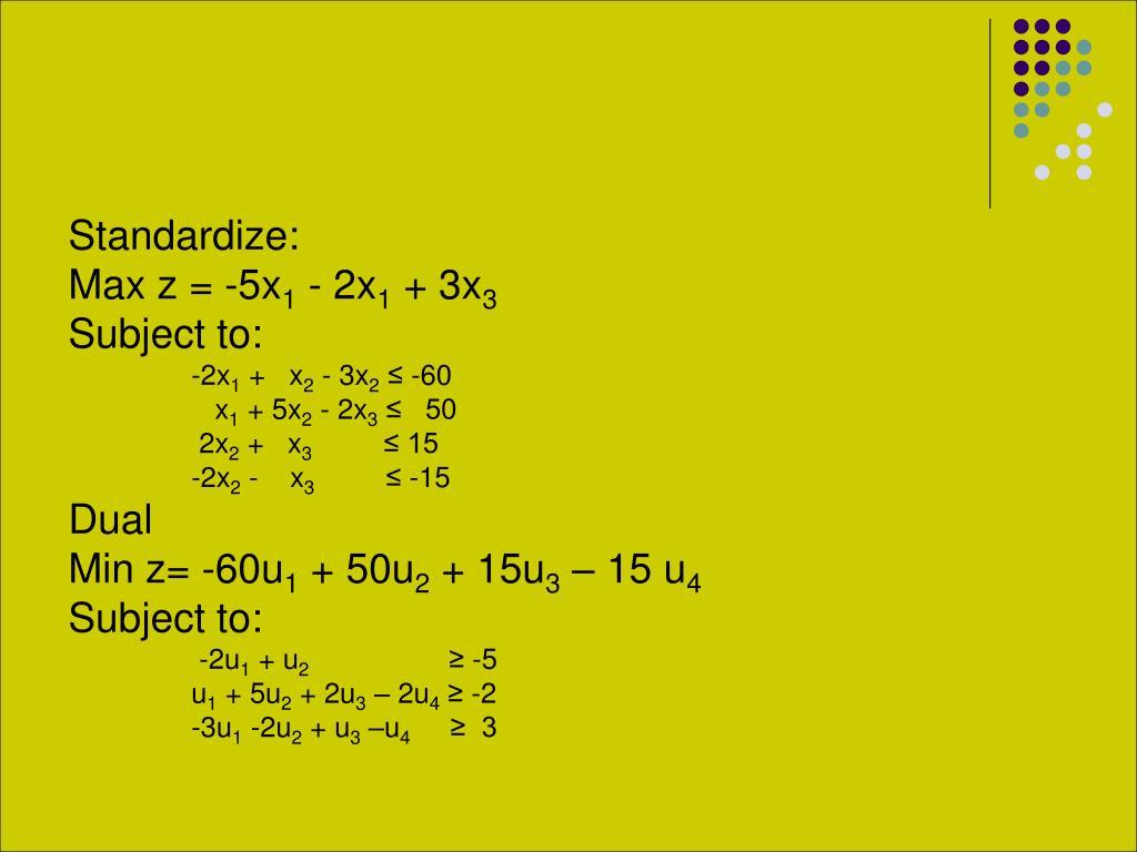 Standardize: