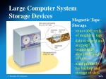 large computer system storage devices76