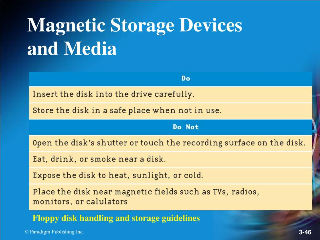 Floppy disk handling and storage guidelines