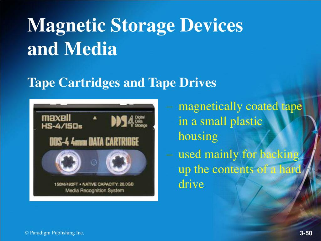 Tape Cartridges and Tape Drives