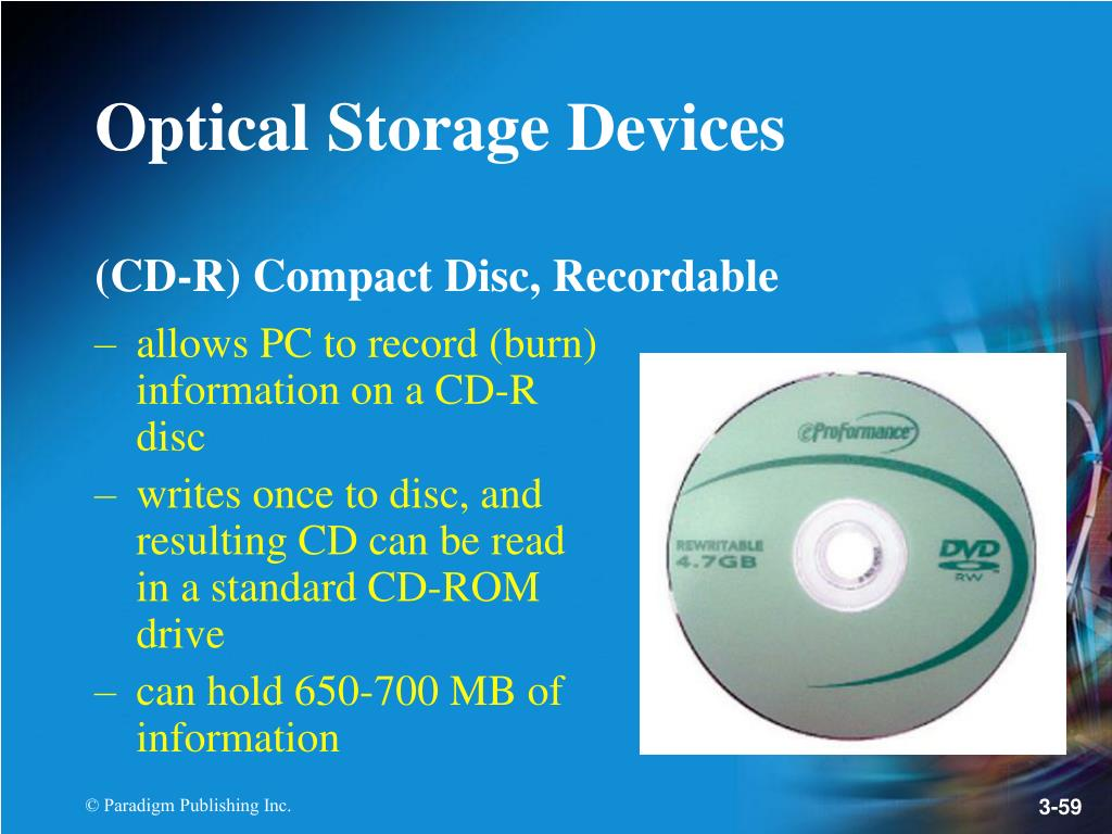 (CD-R) Compact Disc, Recordable