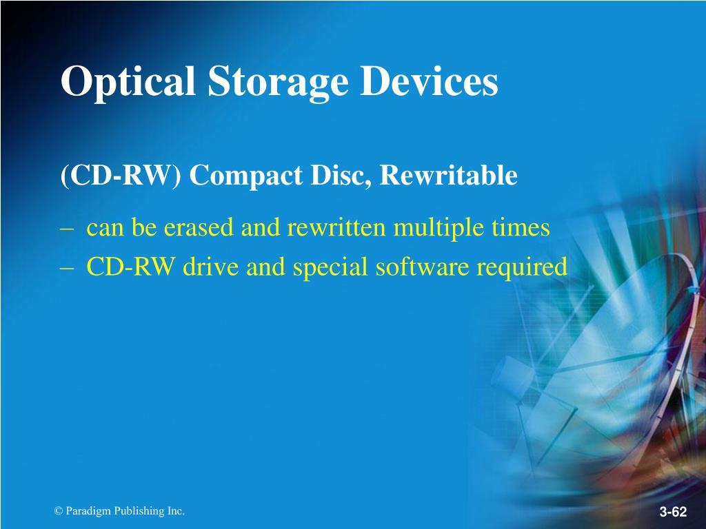 (CD-RW) Compact Disc, Rewritable