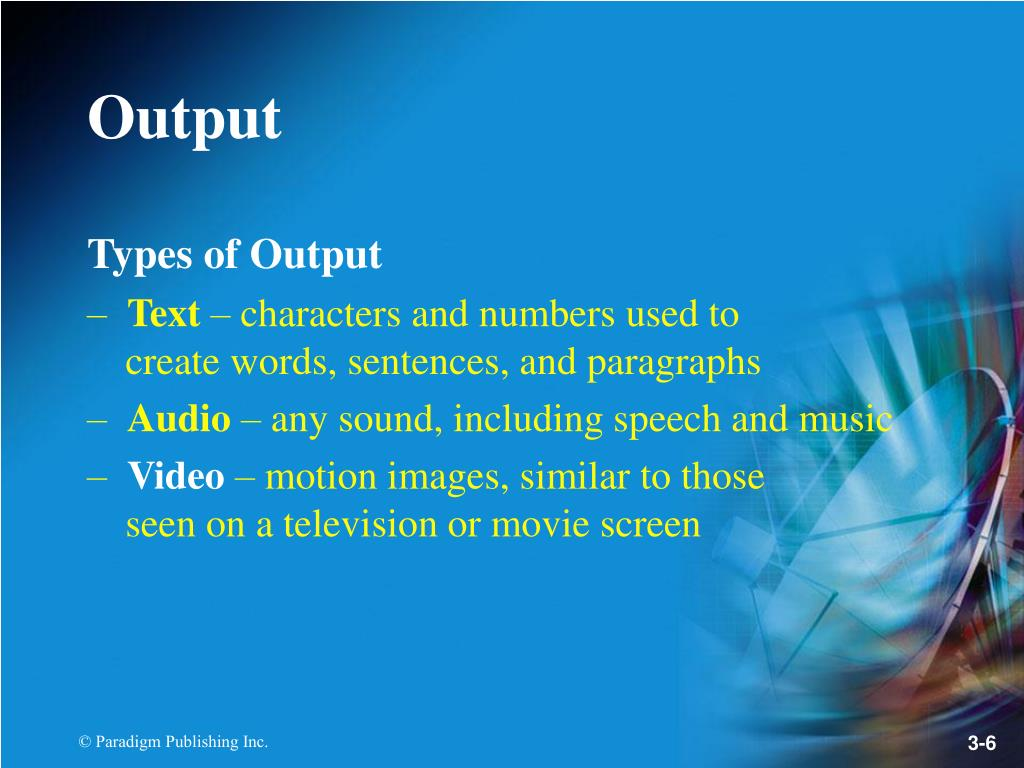 Types of Output