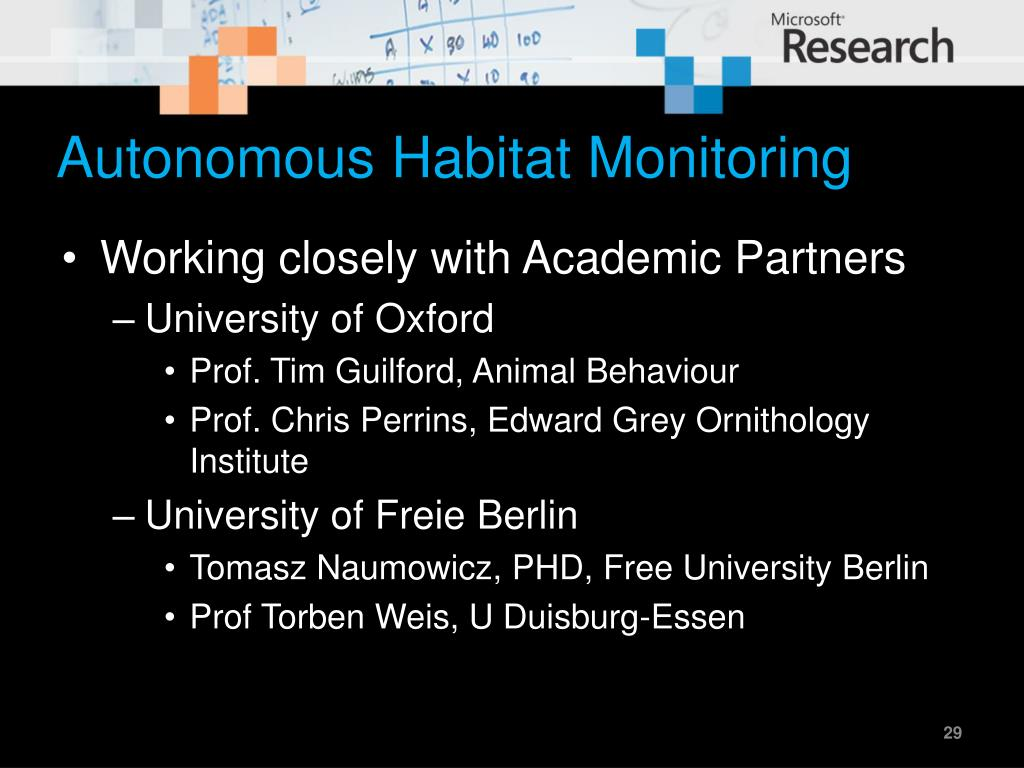 Autonomous Habitat Monitoring