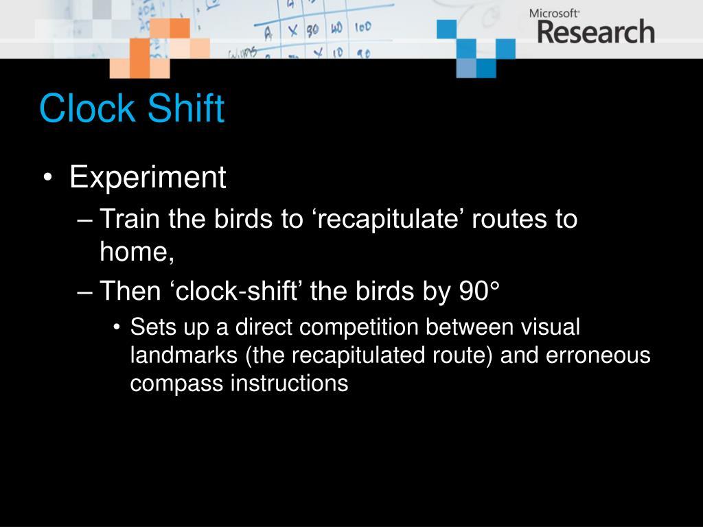 Clock Shift
