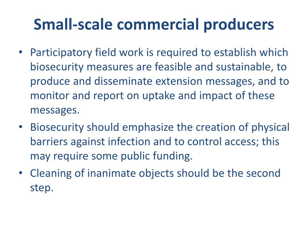 Small-scale commercial producers