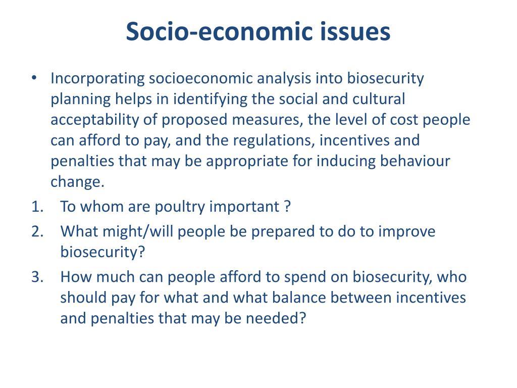 Socio-economic issues