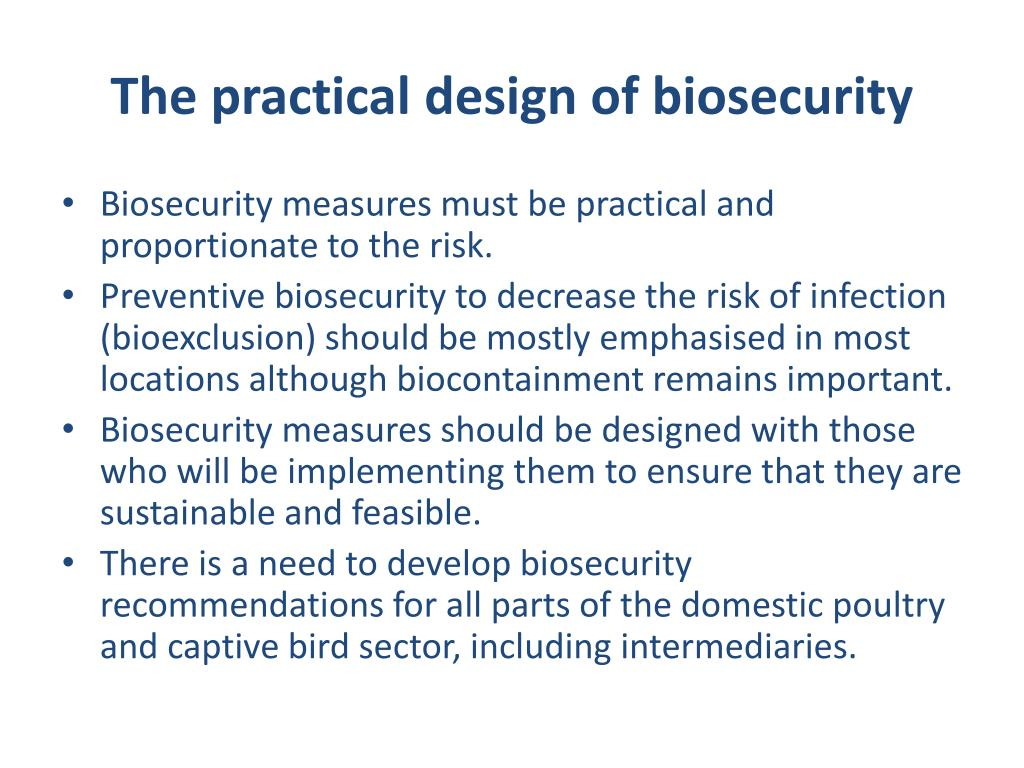 The practical design of biosecurity