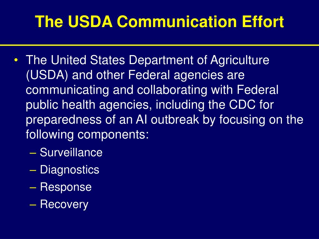 The USDA Communication Effort