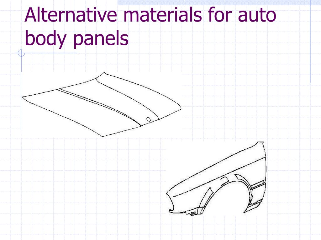 Alternative materials for auto body panels