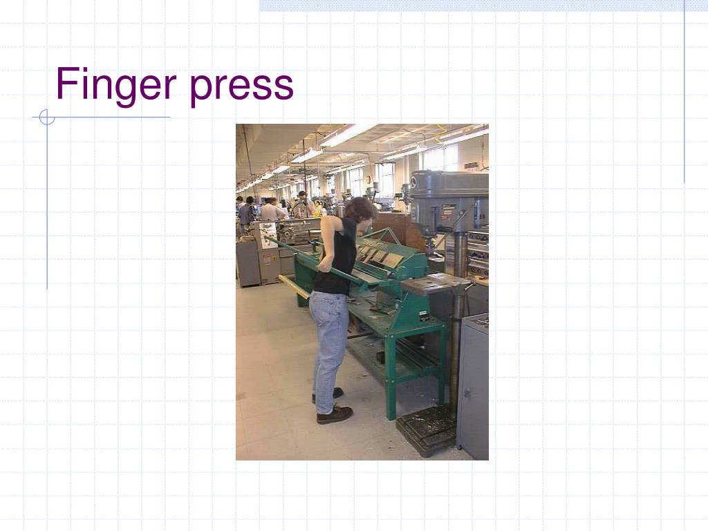 Finger press