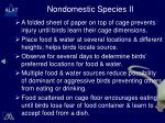 nondomestic species ii