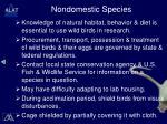 nondomestic species