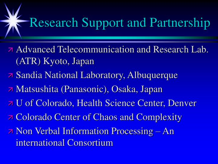 Research Support and Partnership