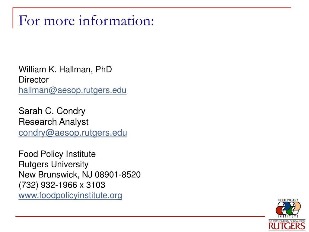 William K. Hallman, PhD