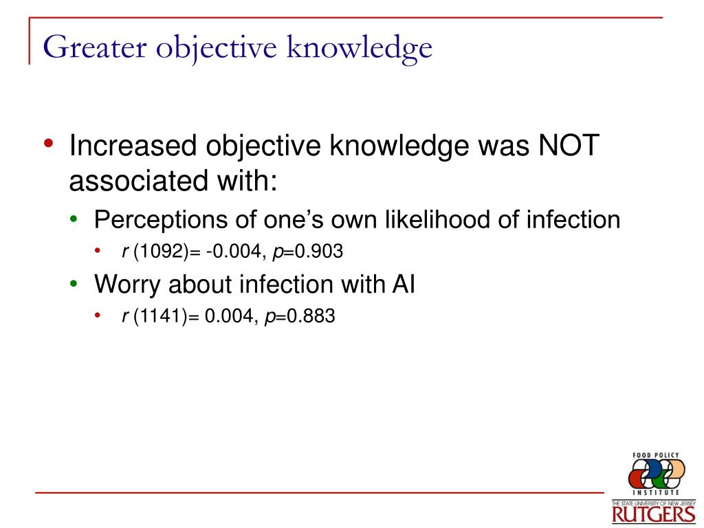 Greater objective knowledge