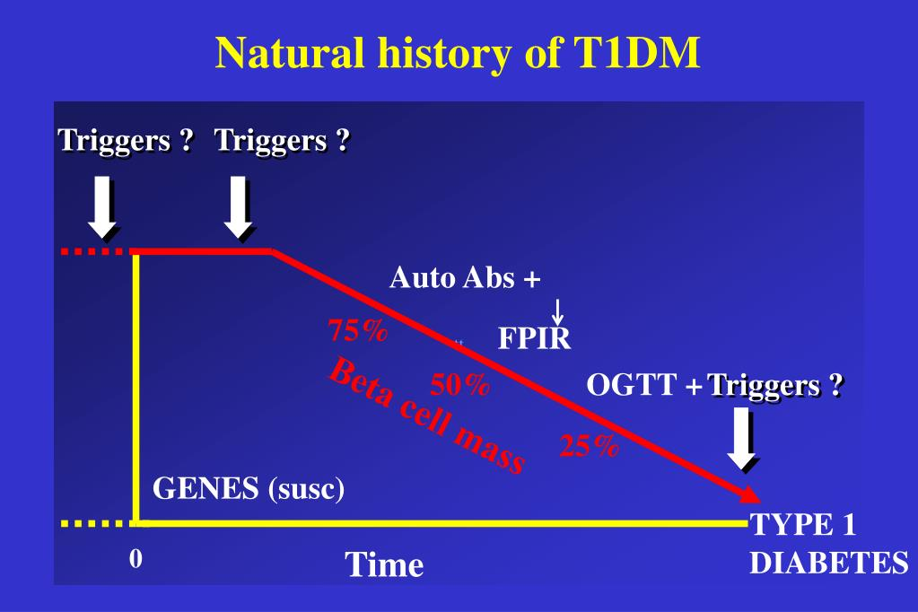 Natural history of T1DM