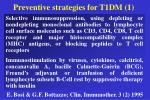 preventive strategies for t1dm 1