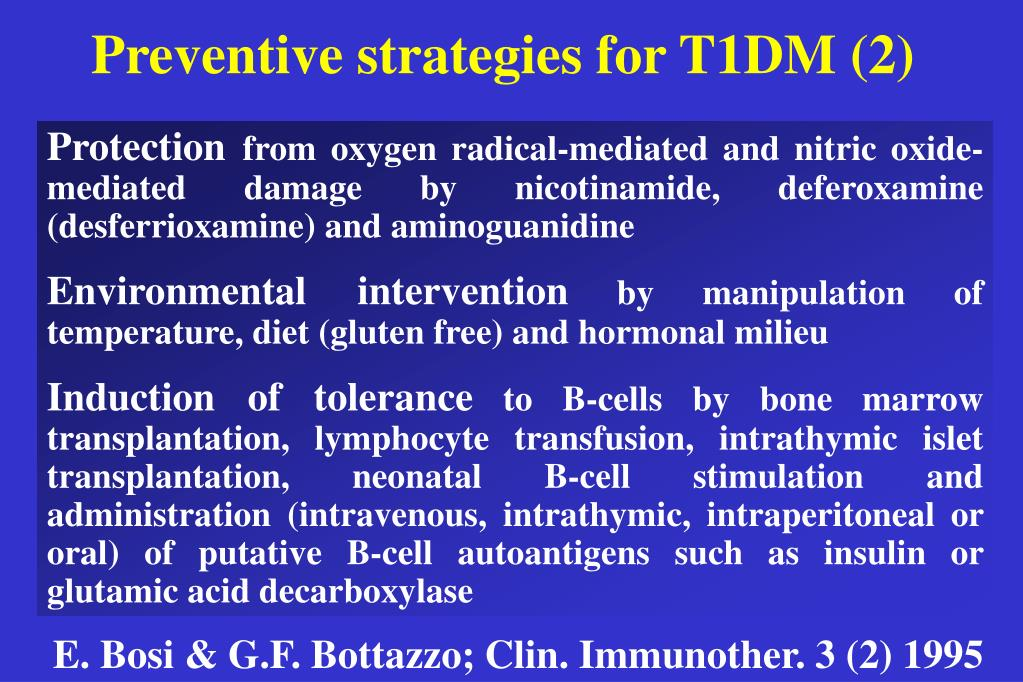 Preventive strategies for T1DM (2)