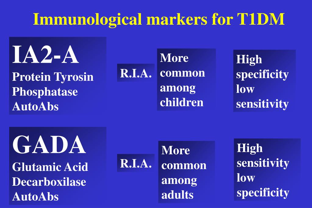 Immunological markers for T1DM
