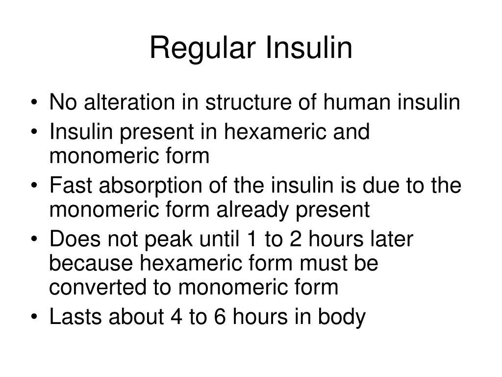 Regular Insulin
