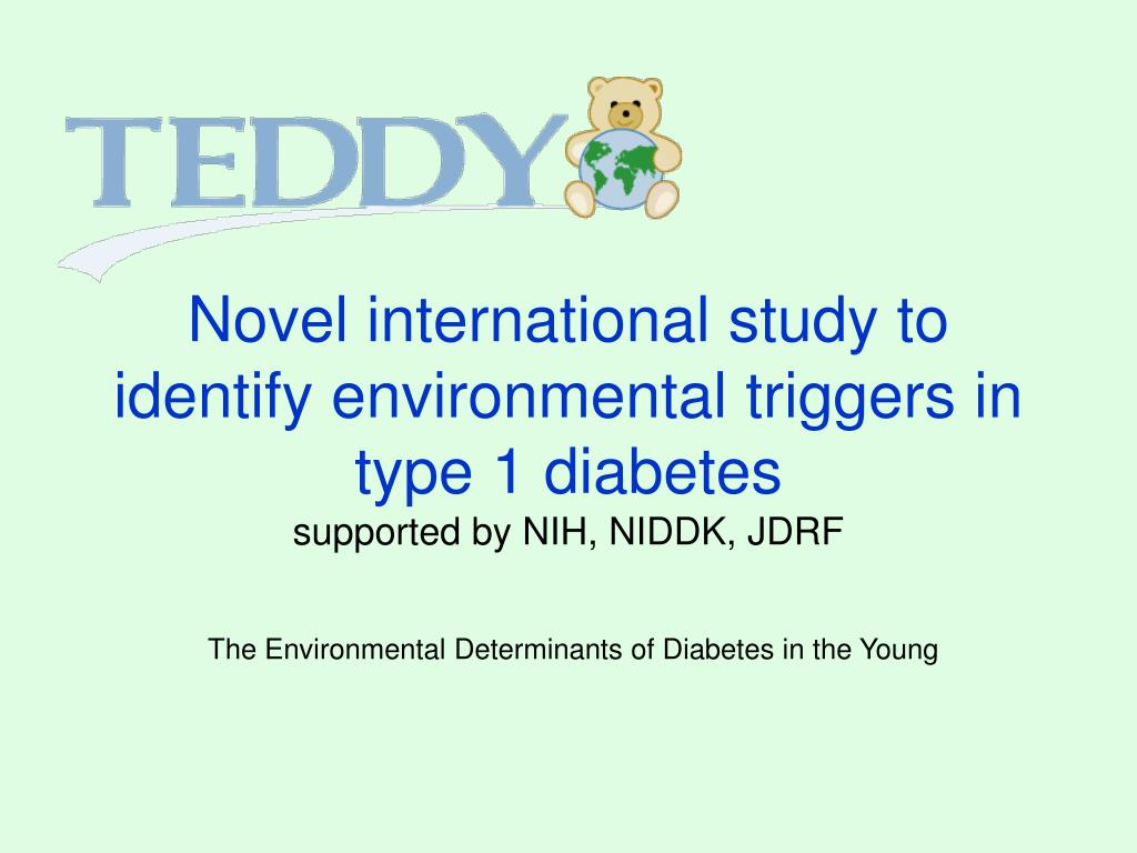 Novel international study to identify environmental triggers in type 1 diabetes