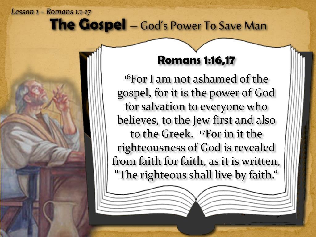 Lesson 1 – Romans 1:1-17