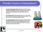 possible causes of ketoacidosis