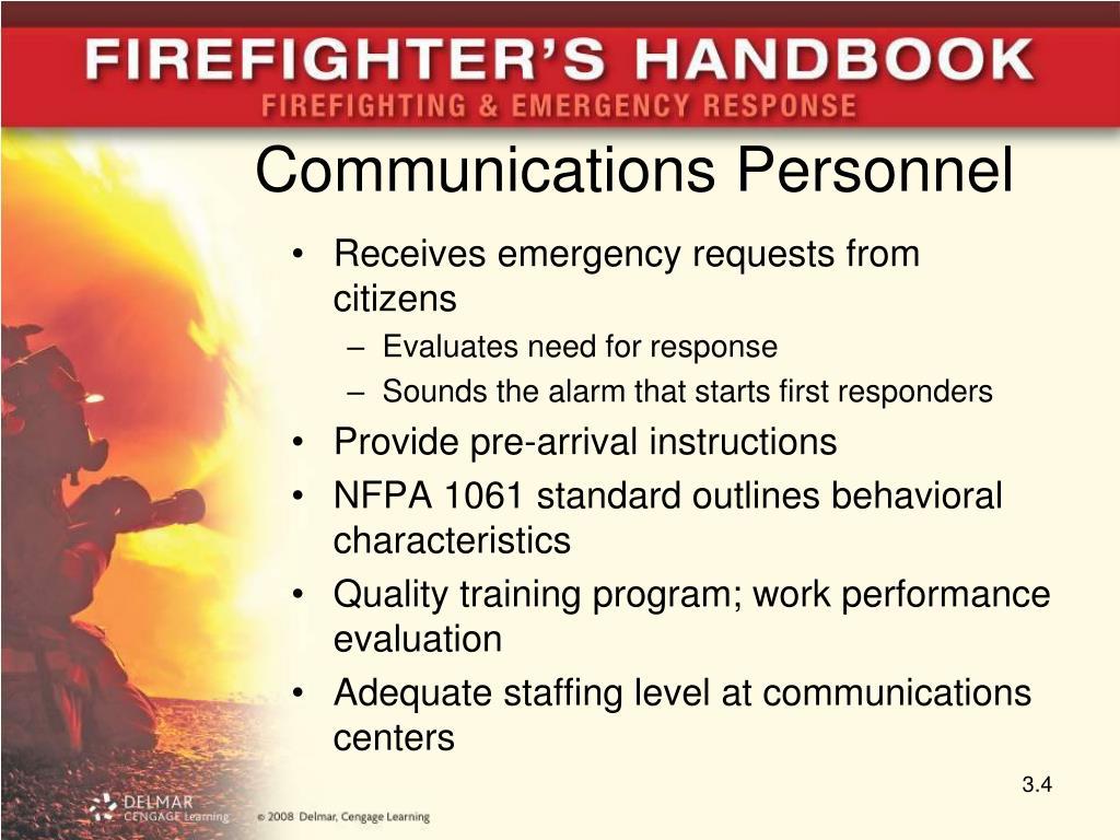 Communications Personnel