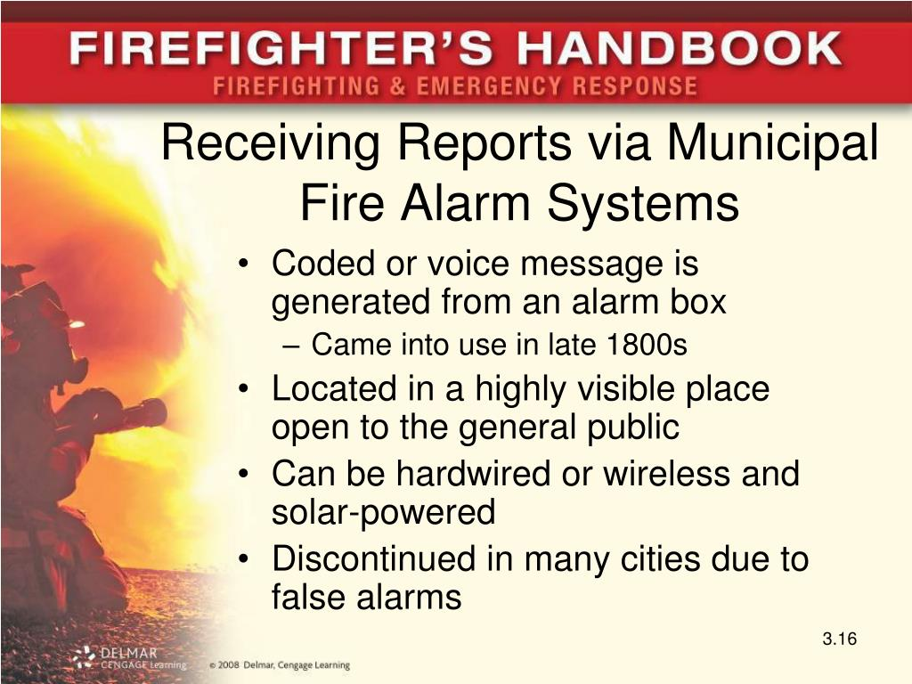 Receiving Reports via Municipal Fire Alarm Systems
