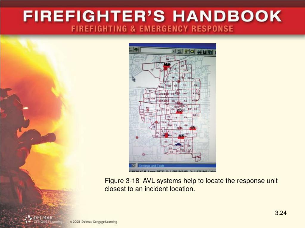 Figure 3-18  AVL systems help to locate the response unit closest to an incident location.