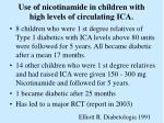 use of nicotinamide in children with high levels of circulating ica