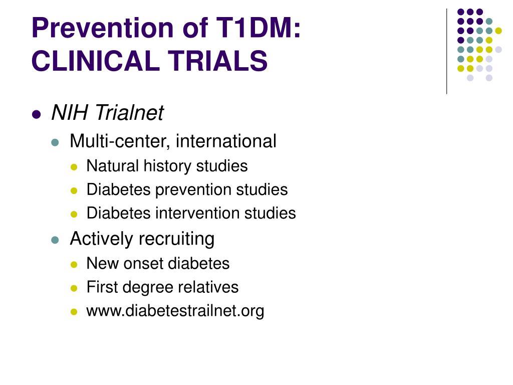 Prevention of T1DM:
