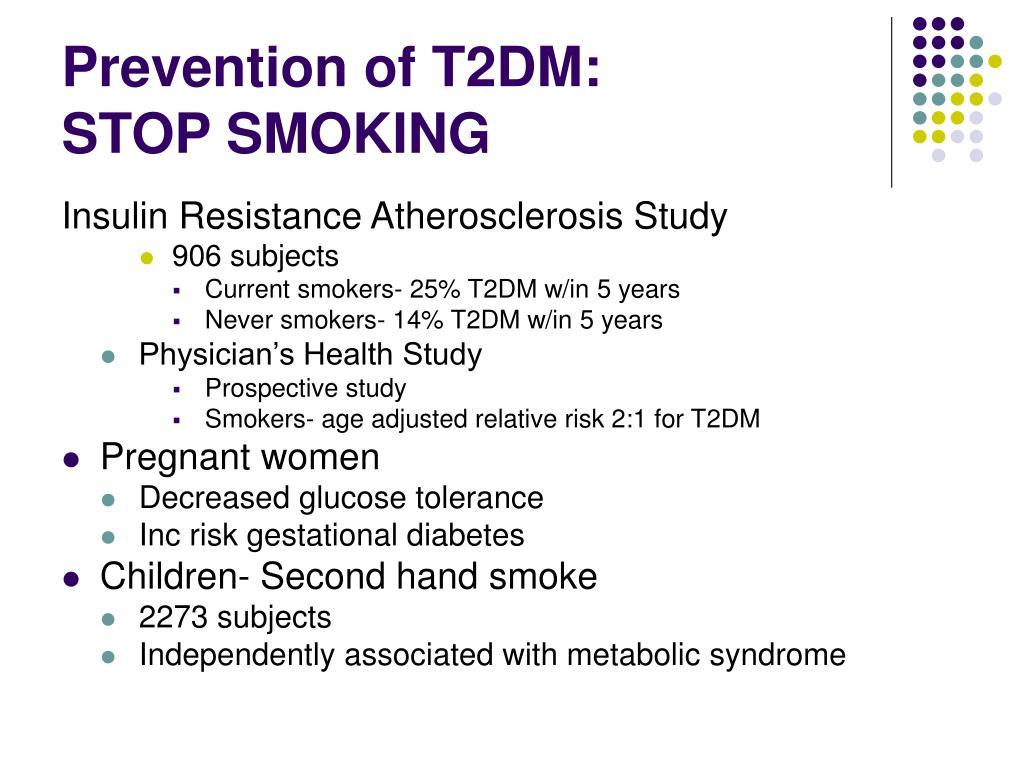 Prevention of T2DM: