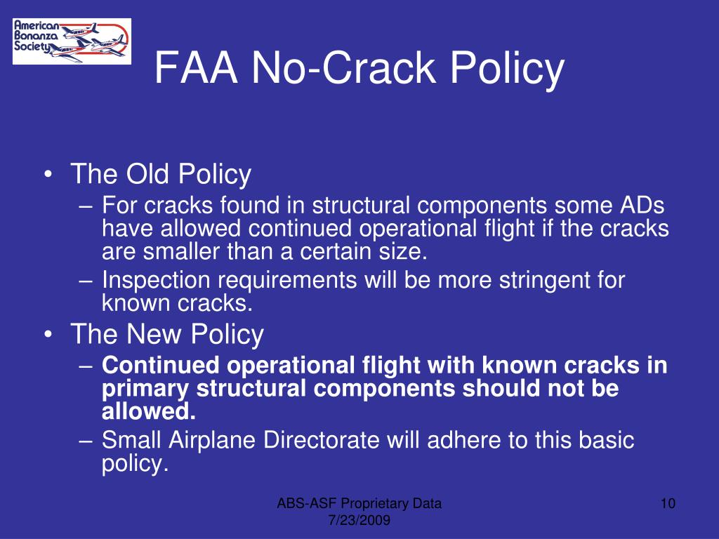 FAA No-Crack Policy