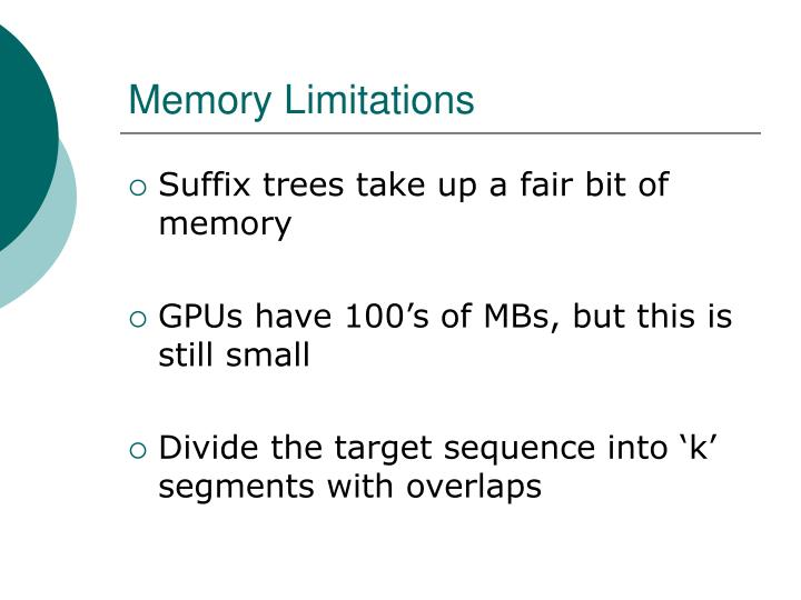 Memory Limitations