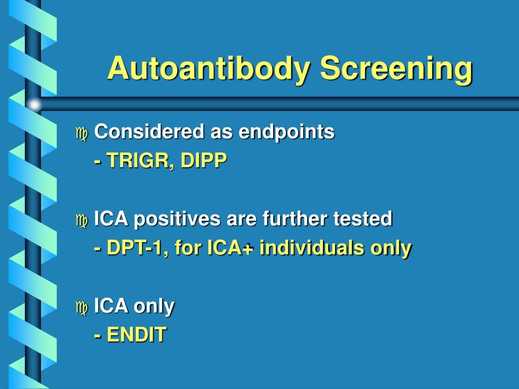 Autoantibody Screening
