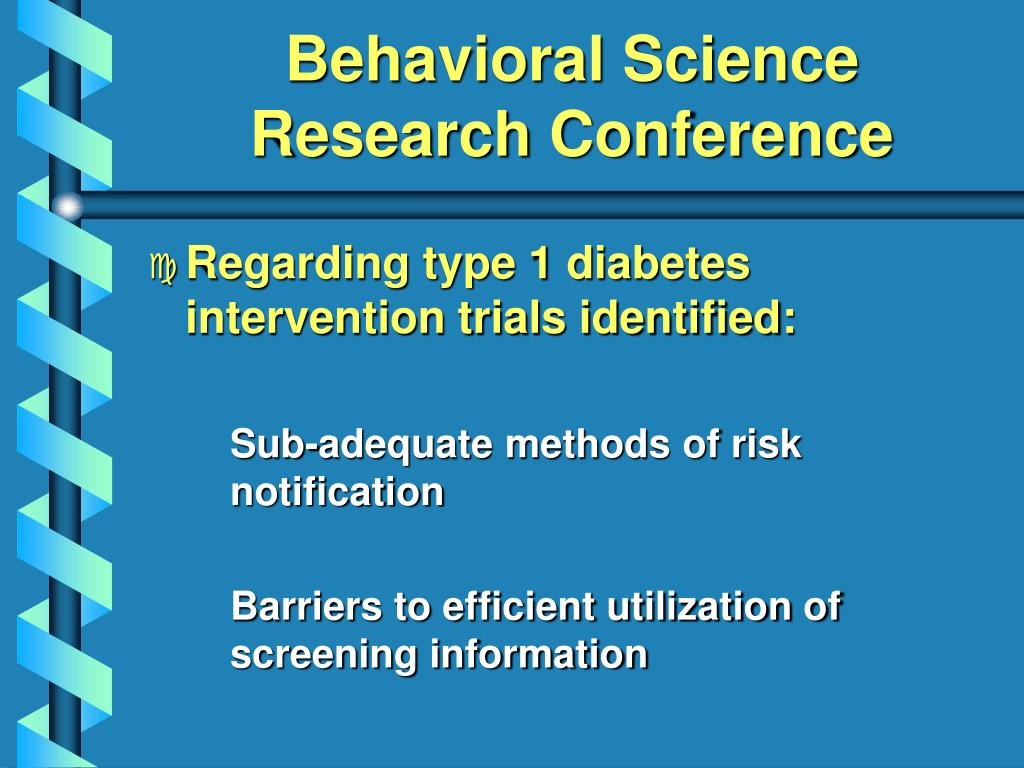 Behavioral Science Research Conference