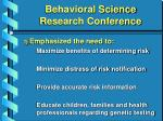 behavioral science research conference26