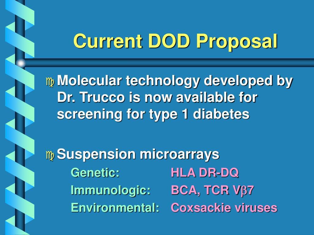Current DOD Proposal