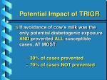 potential impact of trigr