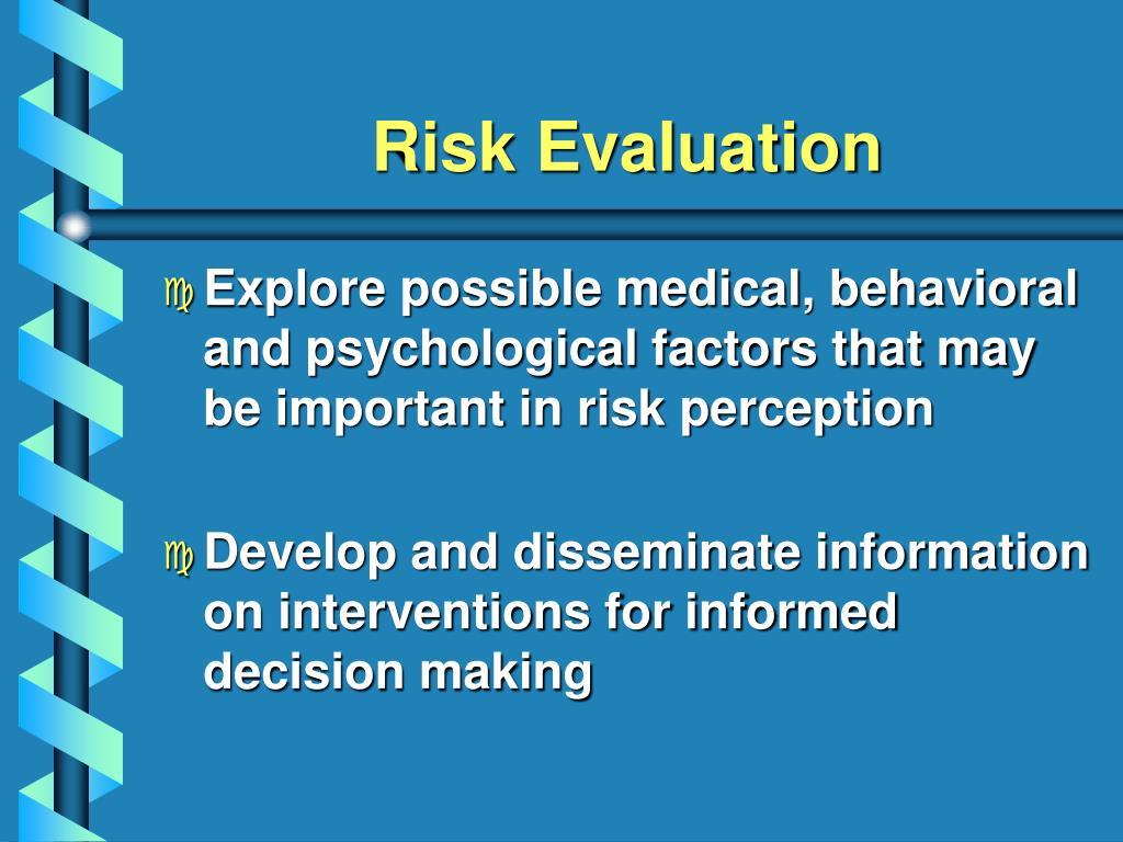 Risk Evaluation