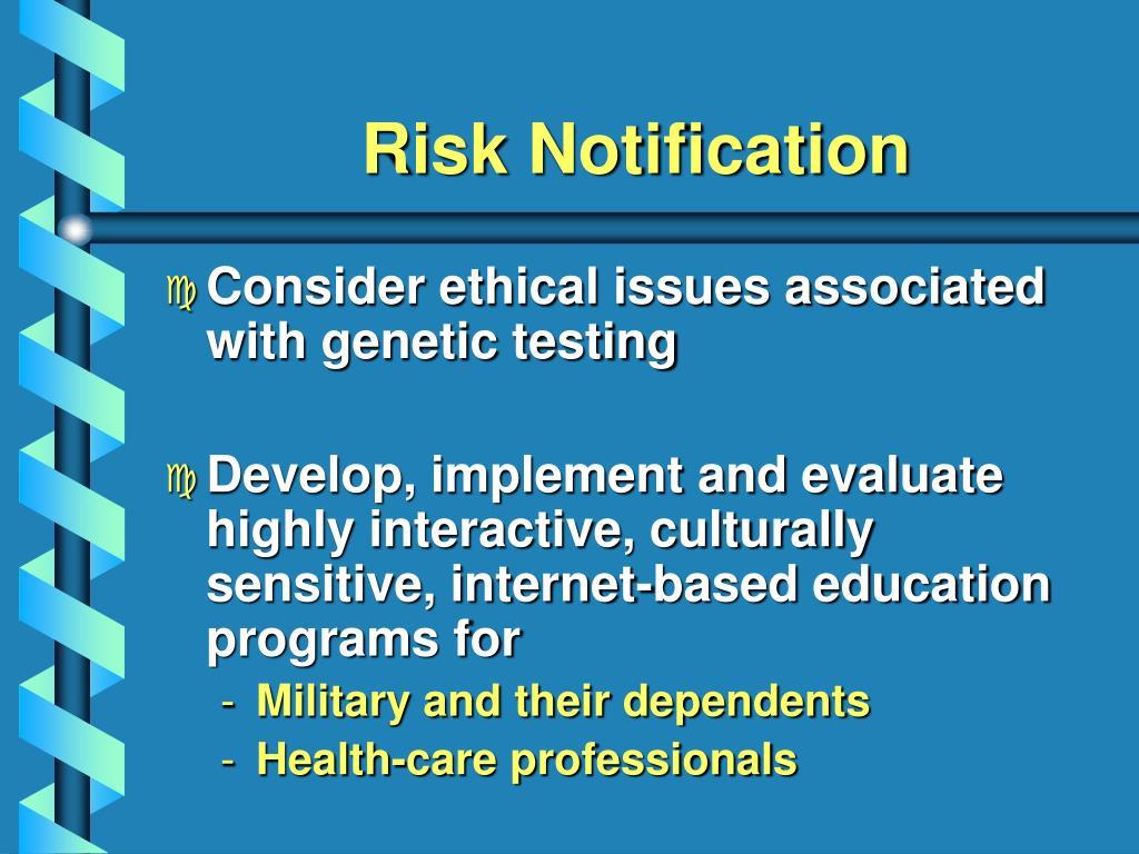 Risk Notification